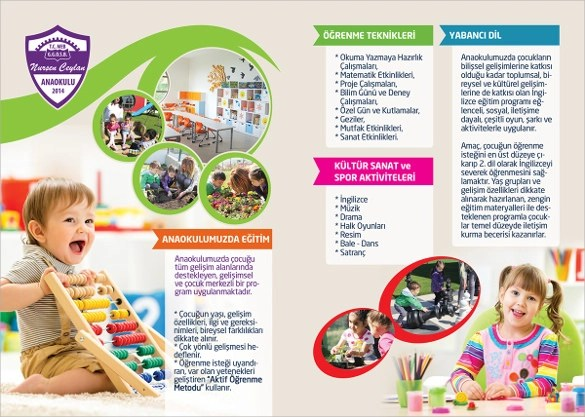 16 Kindergarten Brochures Vector EPS PSD Vector Illustrator