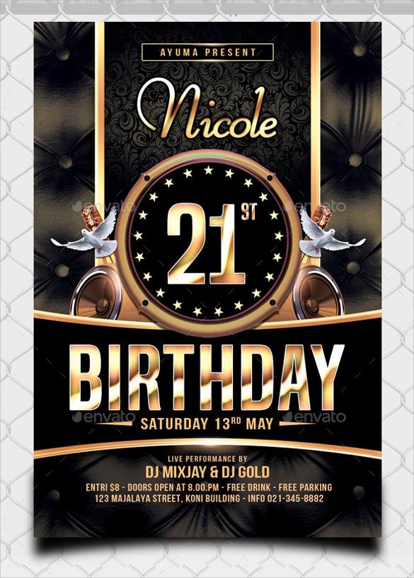 25 spectacular birthday flyers templates
