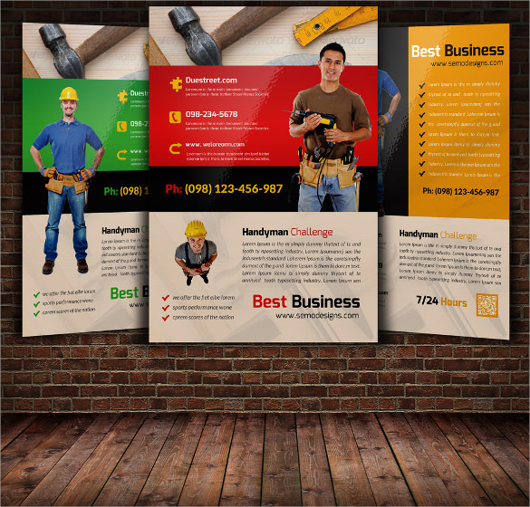 24 Beautiful Handyman Flyer Templates Sample Templates