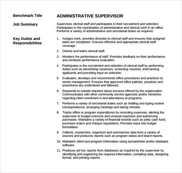 13 Sample Supervisor Resumes To Free Download Sample