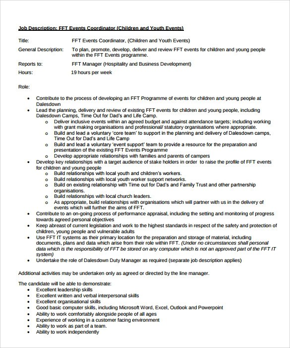 8 Sample Event Coordinator Resumes in PDF  Sample Templates