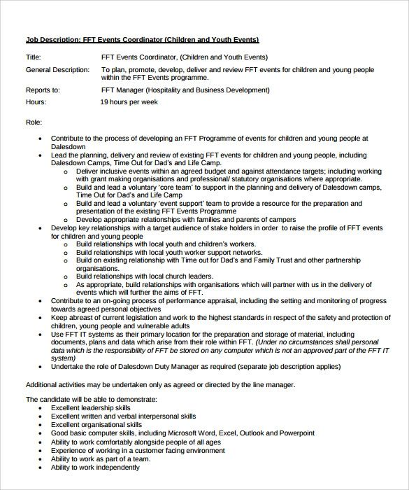 sample music coordinator resume