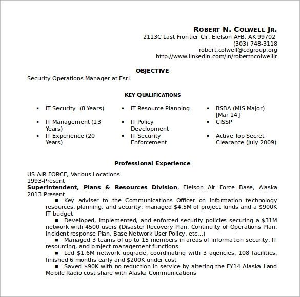 pdf examples of resume