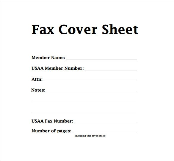 Sample Modern Fax Cover Sheet  6 Documents in PDF Word