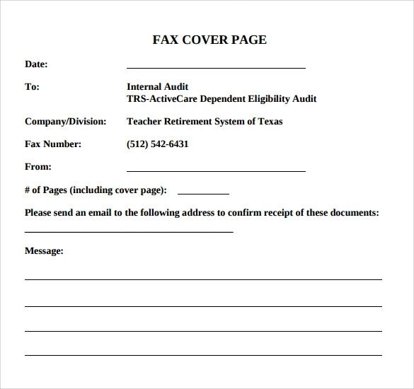 what to include on fax cover sheet