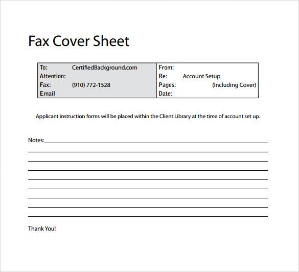 14+ Sample Basic Fax Cover Sheets | Sample Templates