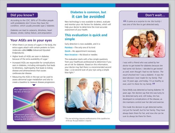 14 Diabetes Brochure Templates  Sample Templates