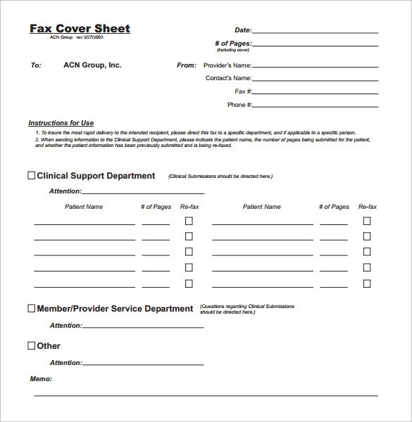 Sample Professional Fax Cover Sheet  10  Examples Format