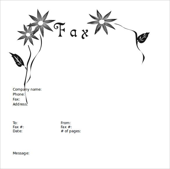 download fax cover sheets