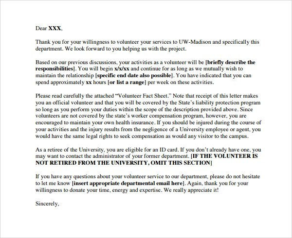Volunteer Thank You Letter  9 Download Free Documents in