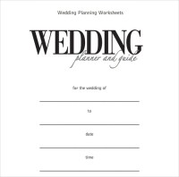 Sample Wedding Planner Template