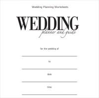 Sample Wedding Planner Template