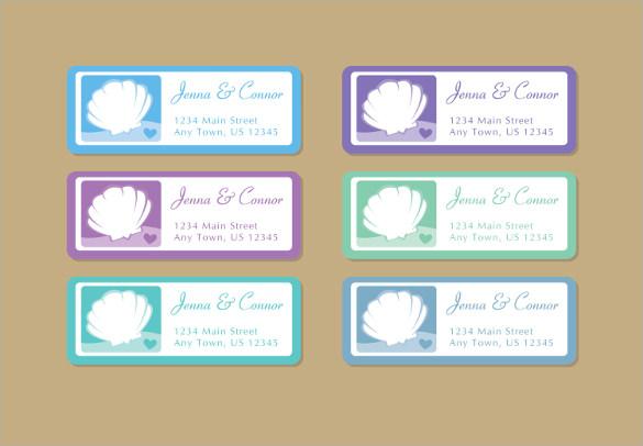 wedding address label template download