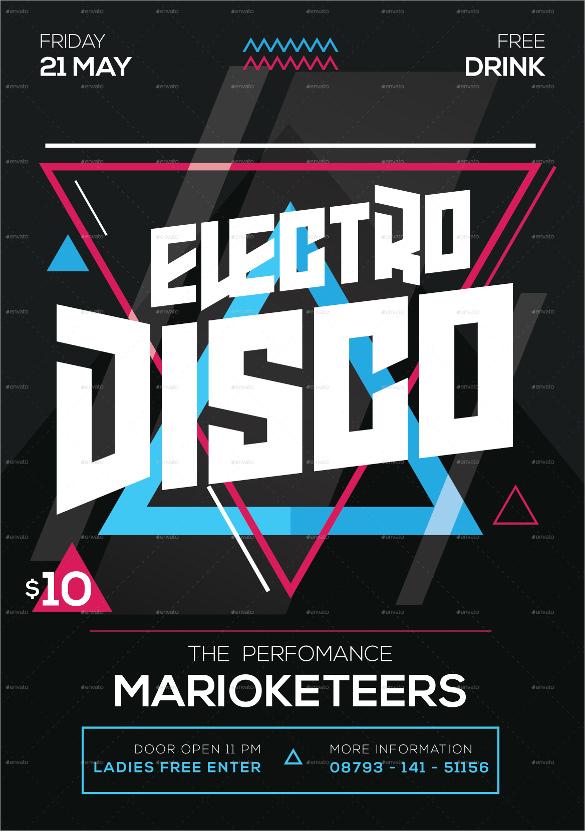 17 Attractive Disco Flyer Templates Sample Templates