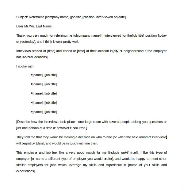 sample of recommendation letter for a job