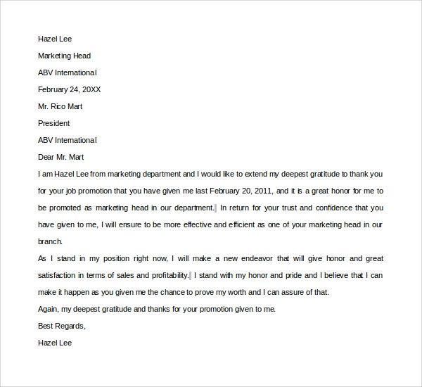 thank you note for a job offer