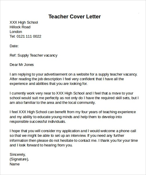 12 Cover Letter Examples  PDF Word