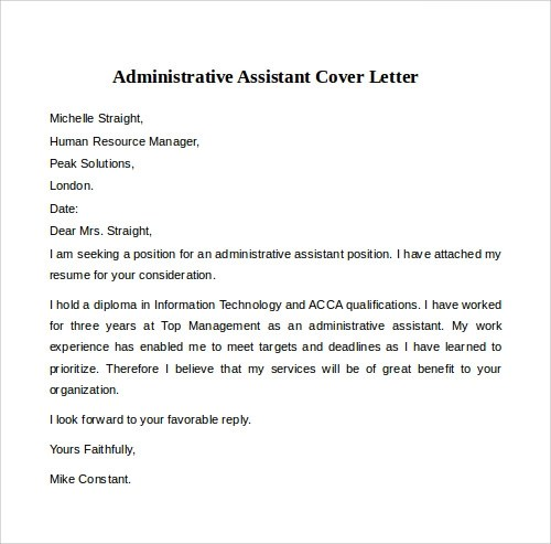 12 Cover Letter Examples – PDF Word Sample Templates