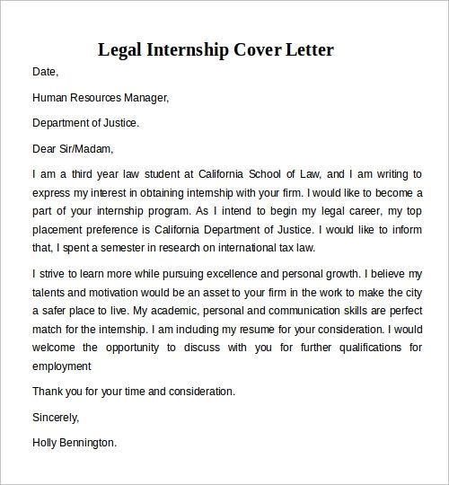 cover letter for internship resume examples