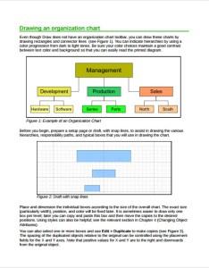 Horizontal organization chart example also sample charts templates rh sampletemplates