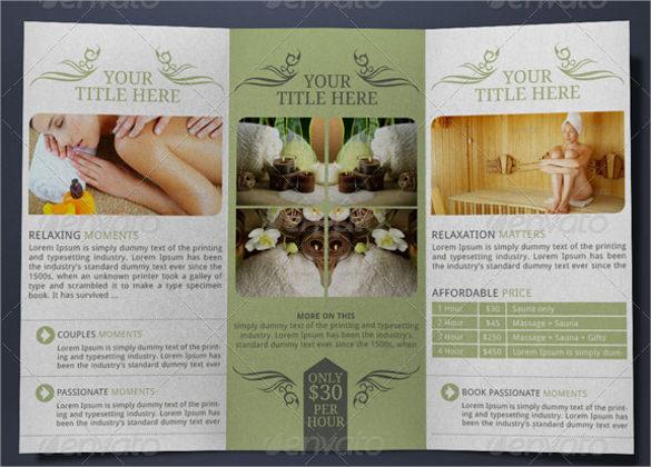 21 Spa Brochures Sample Templates