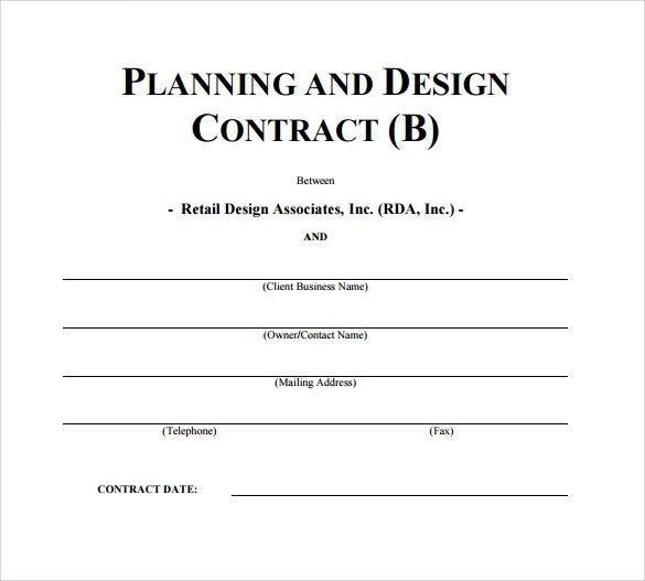 Interior Design Contract Template 7 Free Doents In Pdf