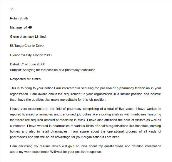 Cover Letter For Cvs Pharmacy Tech Sample Cv Docx Download
