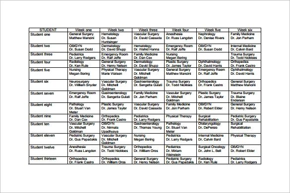 production calendar template