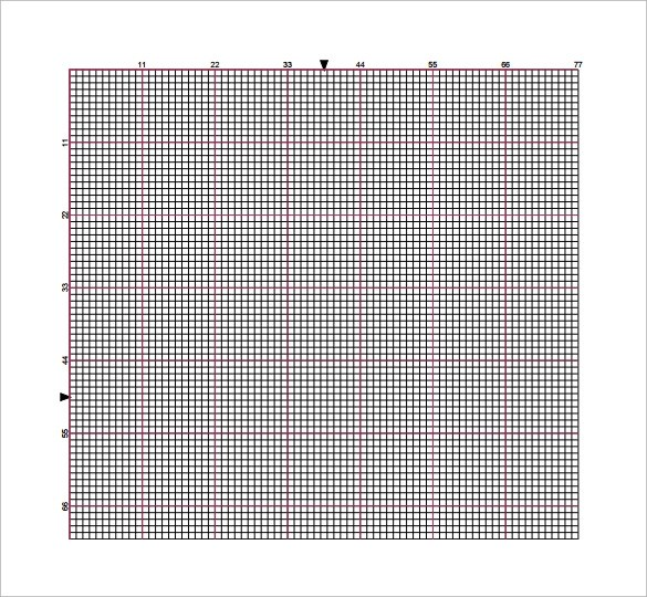 7 Cross Stitch Graph Paper Templates To Download Sample