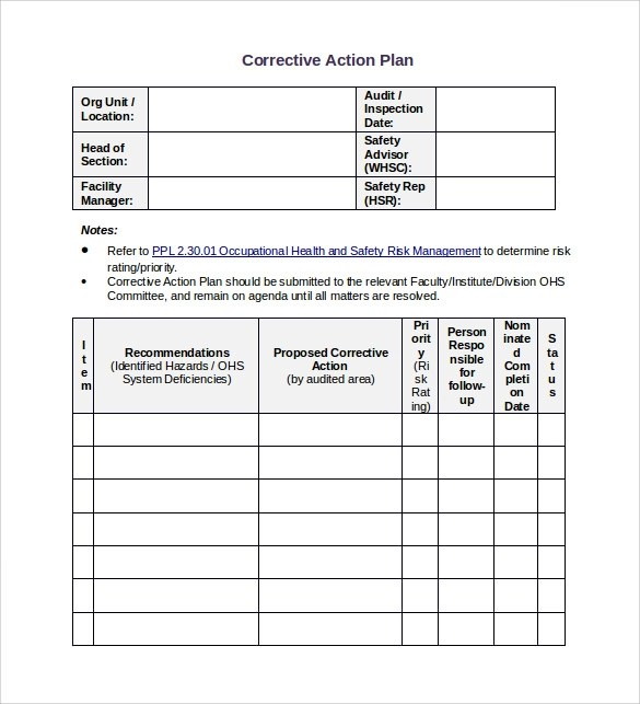 Sample Employee Corrective Action Plan Sample Resumes