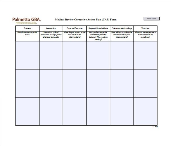 Microsoft Word Action Plan Template