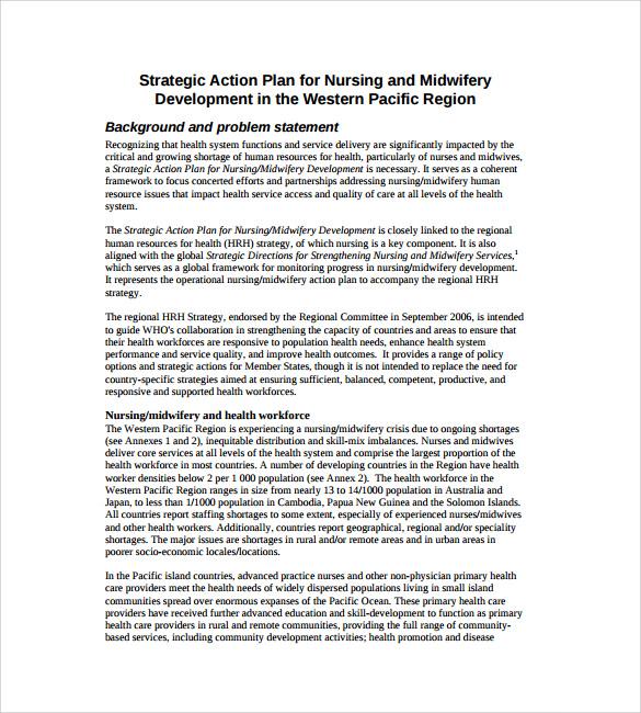 strategic planning action plan template