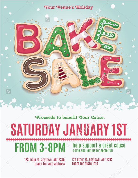 bake sale flyer free template