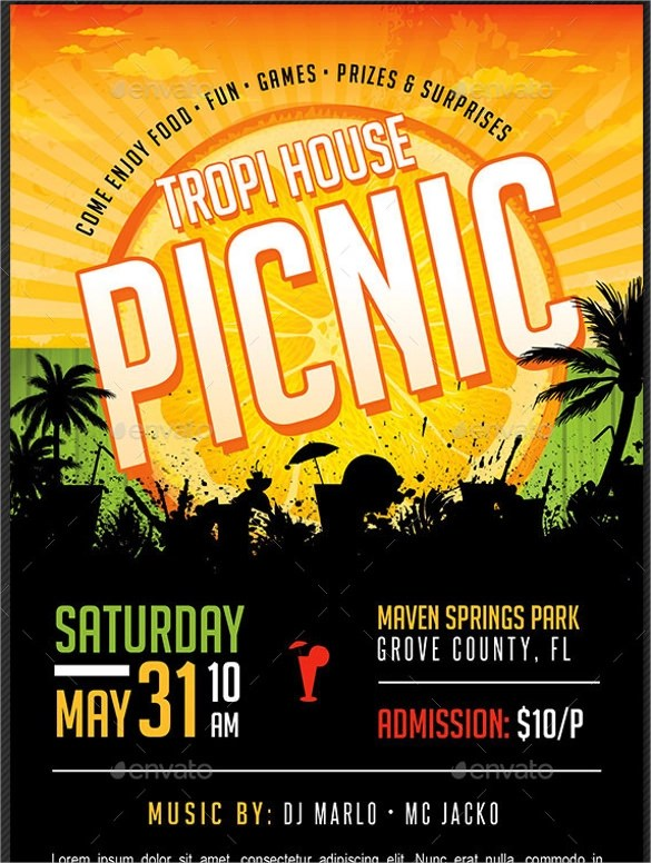 Picnic Flyer Template Download In Vector EPSPSD