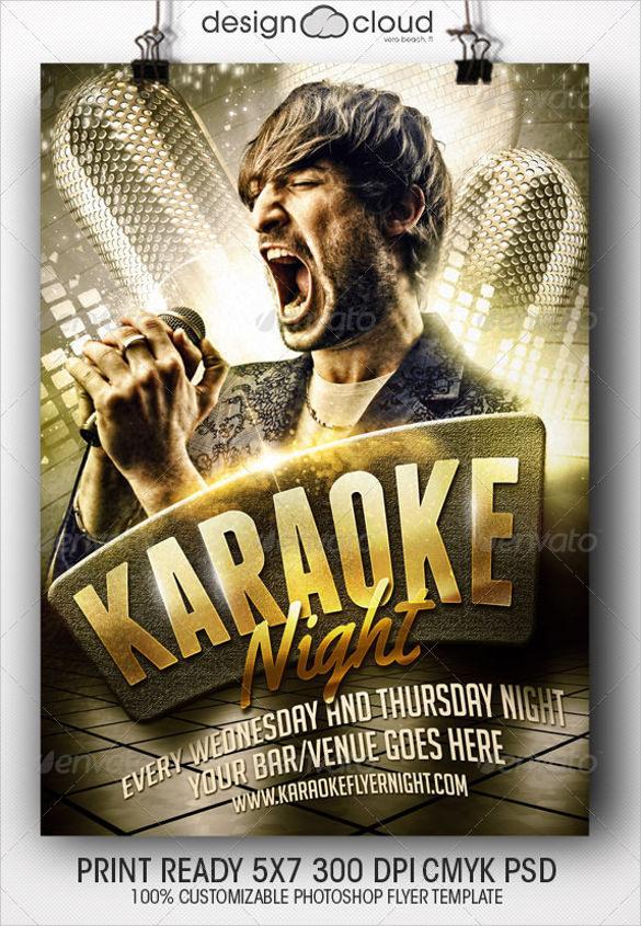 23 Karaoke Night Flyer Templates  EPS PSD AI Word