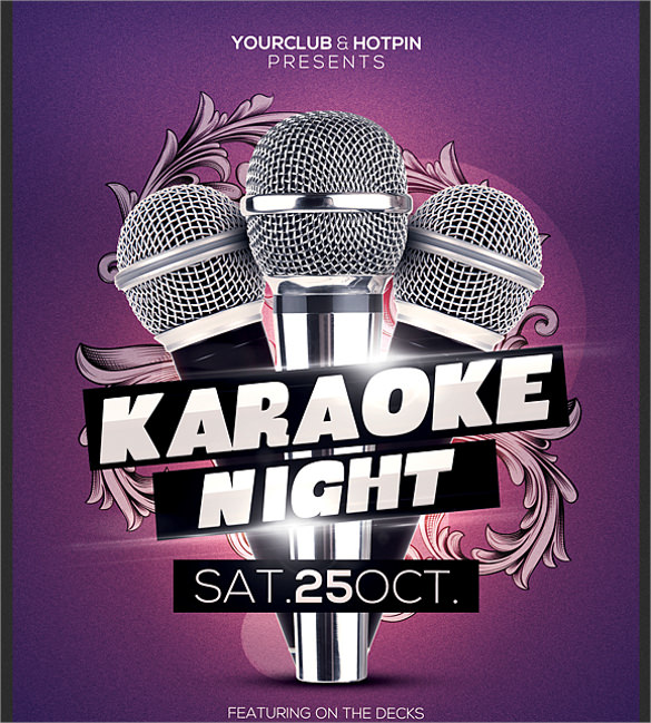 19 Karaoke Night Flyer Templates  Sample Templates