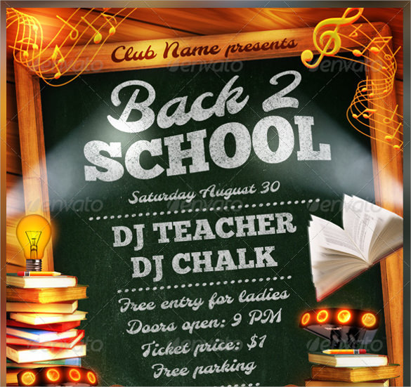 21 Back To School Flyer Templates Sample Templates