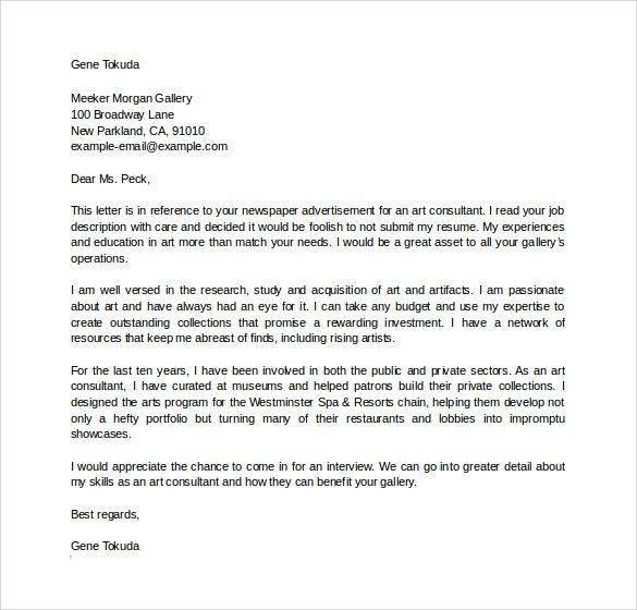 10 Consulting Cover Letter Templates To Download Sample
