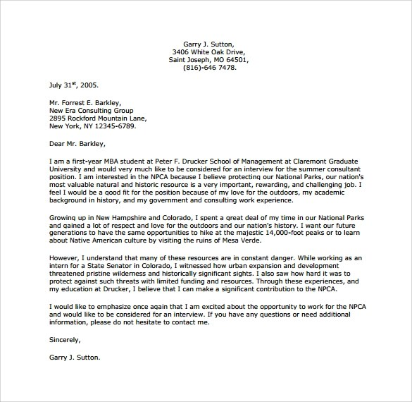 Cover Letter Samples Yale | Sample Resumes & Sample Cover ...