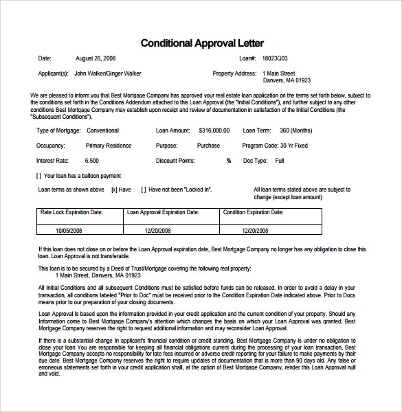 Loan Commitment Letter Sample | Docoments Ojazlink