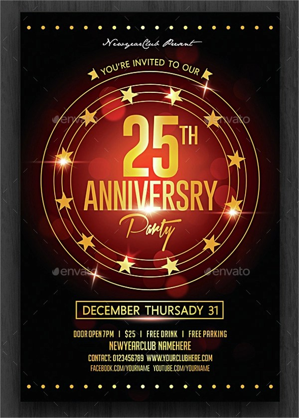 22 Anniversary Flyers Sample Templates