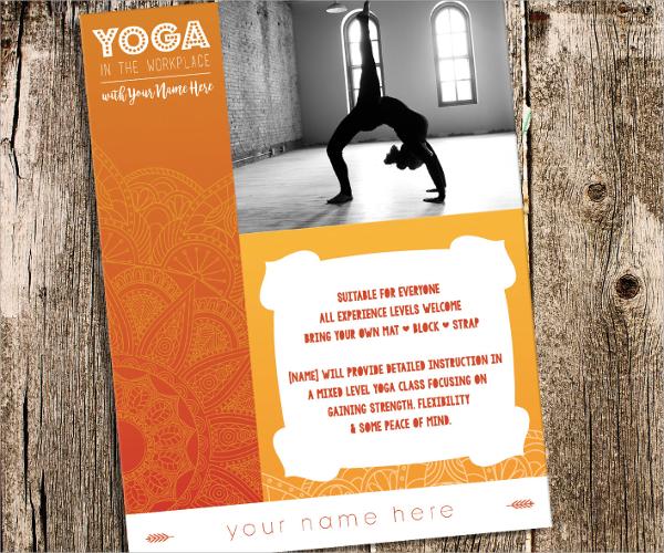 21 Yoga Flyer Templates Sample Templates