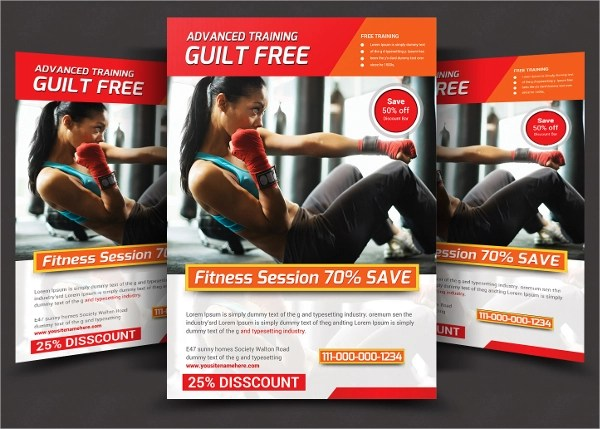 Fitness Flyer 20 Download In Vector EPS PSD