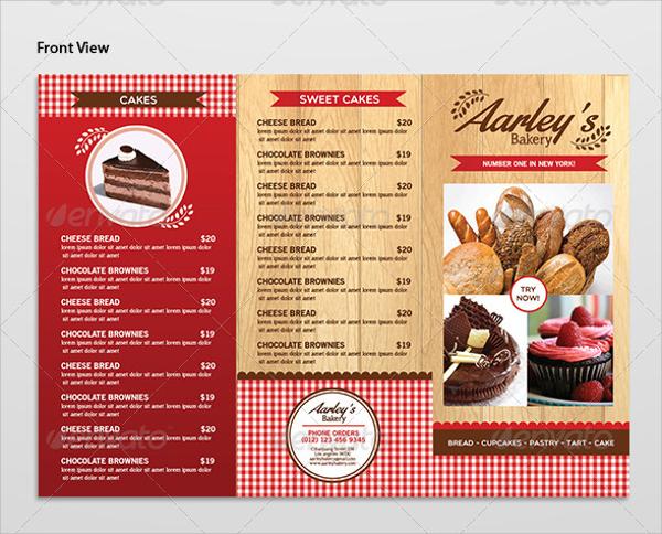 16 Sample Bakery Menu Templates Sample Templates