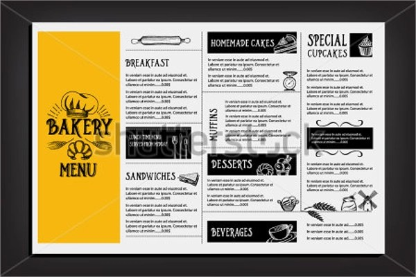 17 Sample Bakery Menu Templates  Ai Pages PSD Doc