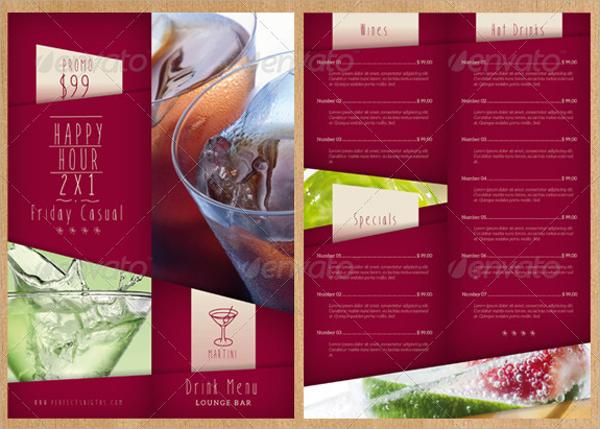 sample drink menu