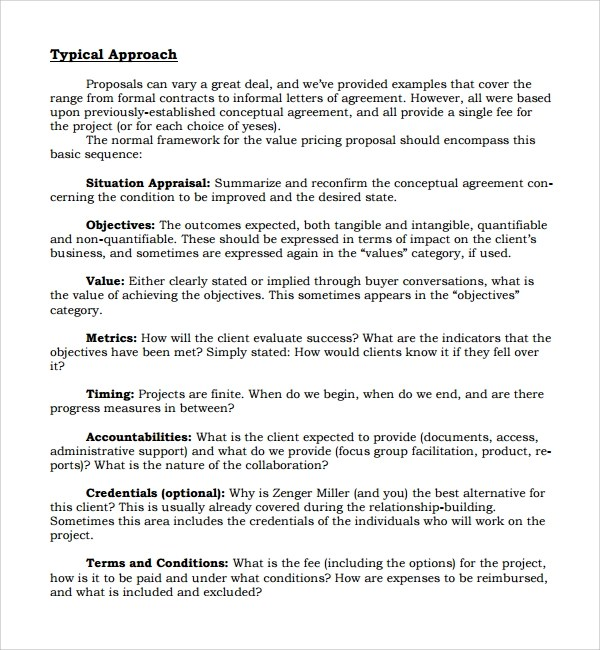6 Informal Proposal Templates Sample Templates