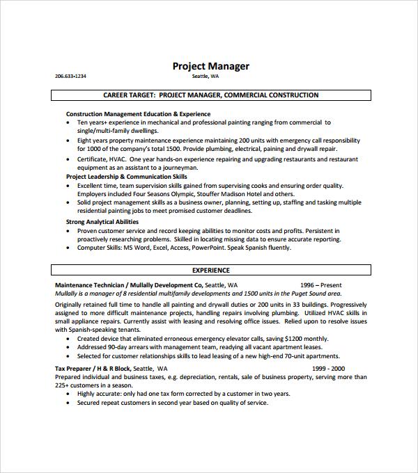 54+ Resume Templates   Sample Templates