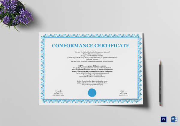 13 Conformity Certificate Templates To Download Sample Templates
