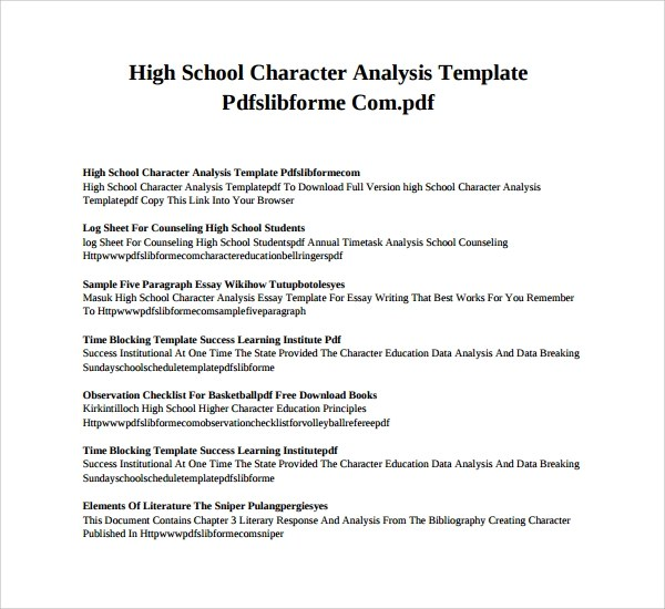 Ap English Character Analysis Essay - Mrmullen / Character